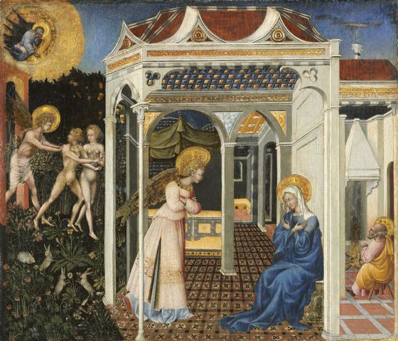 Paolo, Giovanni di: The Annunciation and Expulsion from Paradise. Fine Art Print/Poster (004171)